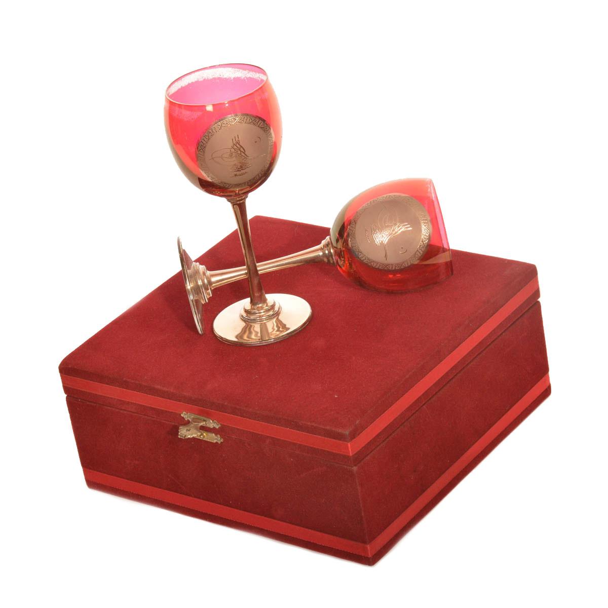 Kazim κασετίνα Σετ 2 Κρυστάλλινων ποτηριών κρασιού